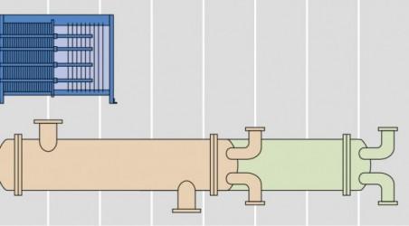 プレート式と多管式とのサイズ比較
