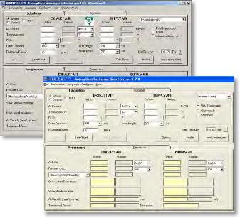 HEATEX SELECT画面